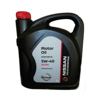 NISSAN MOTOR OIL SYNTHETIC 3+ 5W-40 5 Л