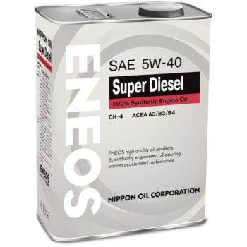 ENEOS SUPER DIESEL 100% SYNTHETIС API CH-4 SAE 5W-40