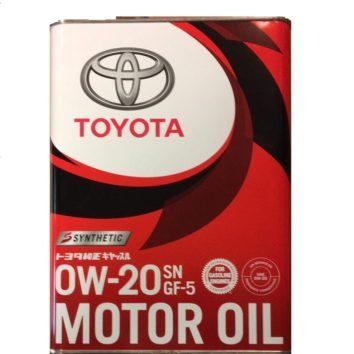 Toyota Motor Oil SN/GF 0W-20